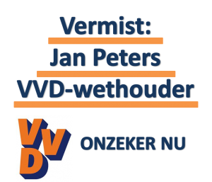 VVD - vermissing wethouder Jan Peters