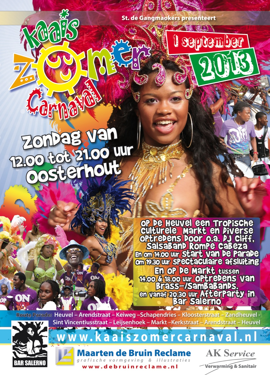 Nieuws: Kaais Zomercarnaval op 1 september