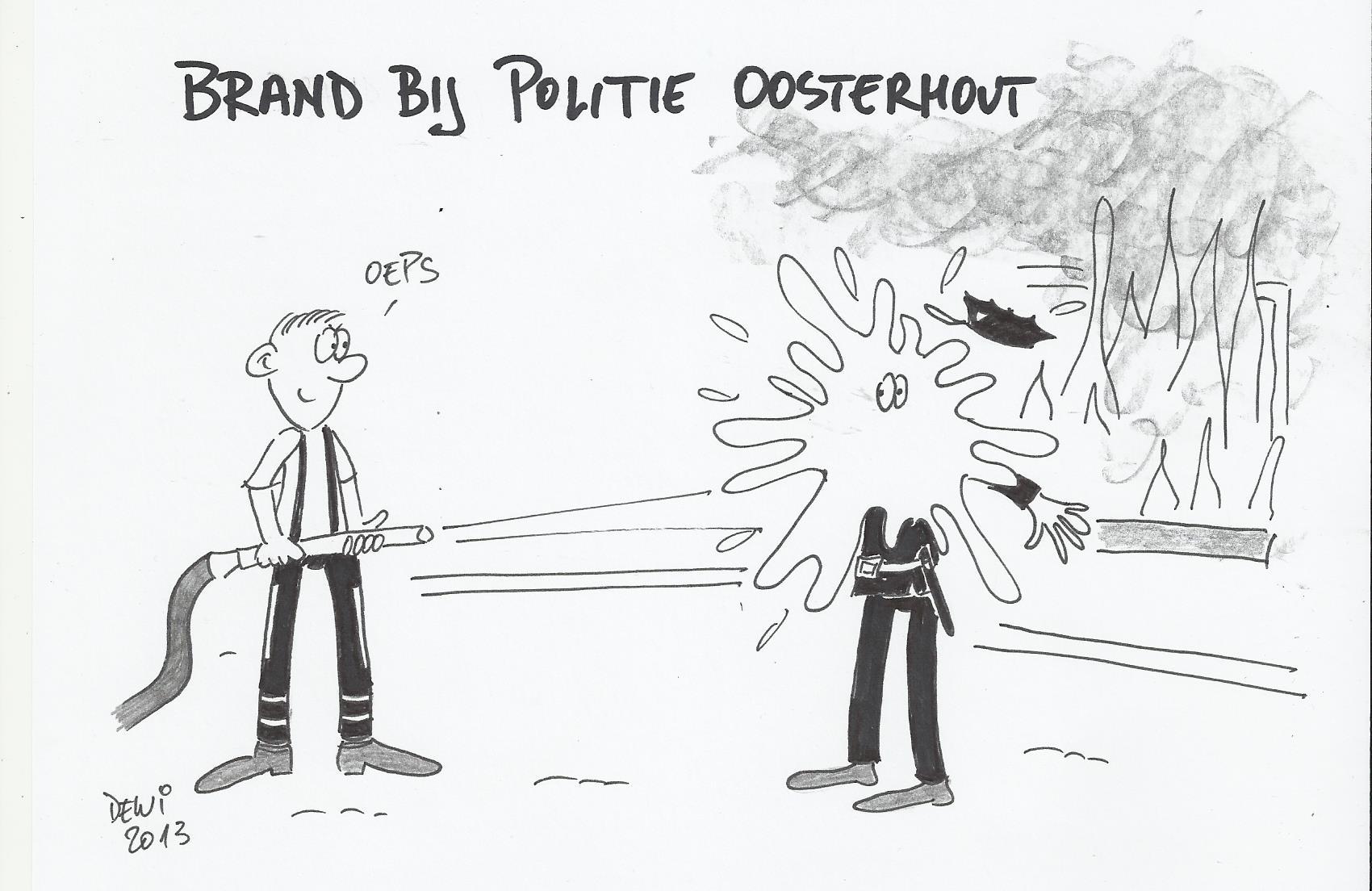 Opgetekend: Brand bij de Politie
