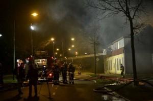 Brand in voormalig café Bredaseweg in Oosterhout