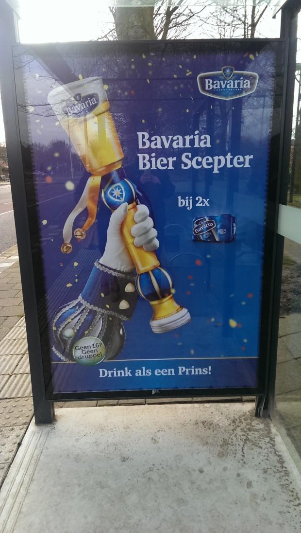 Poster Bavaria in bushokje Oosterhout