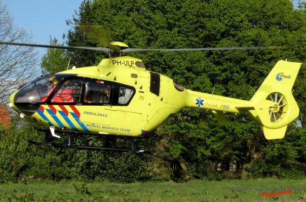 Traumahelikopter ter plaatse © Arno van der Pas