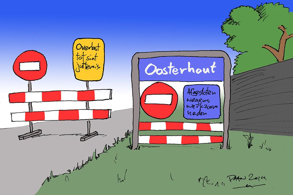 Opgetekend: Oosterhout onbereikbaar
