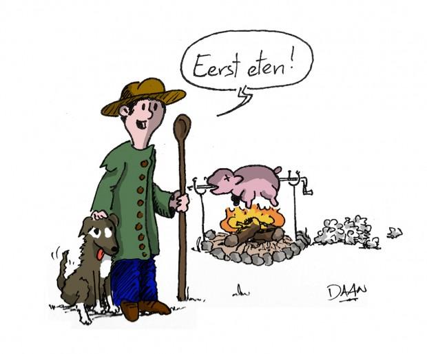 schapen oosterhout eerst eten