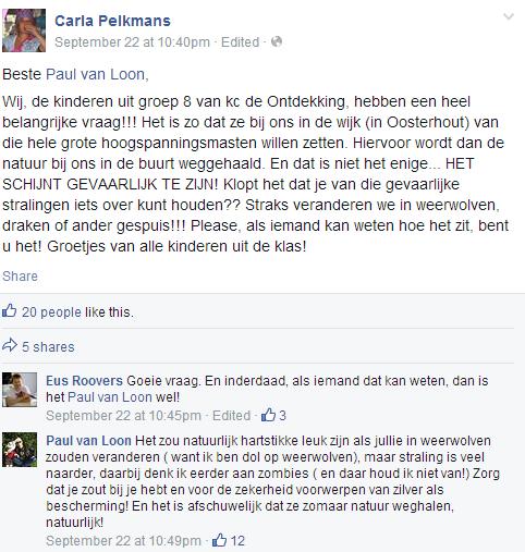 Facebookgesprek met Paul van Loon