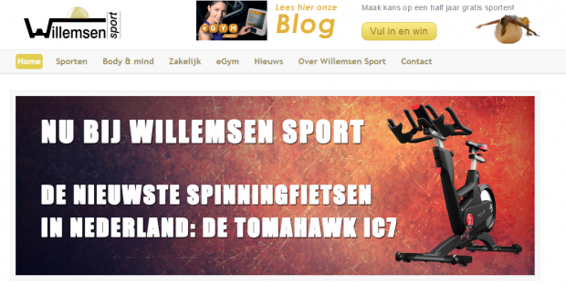 Website Willemsen Sport