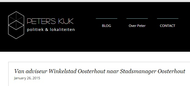 Screenshot weblog Peter de Hoogh