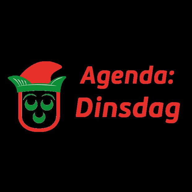Agenda dinsdag