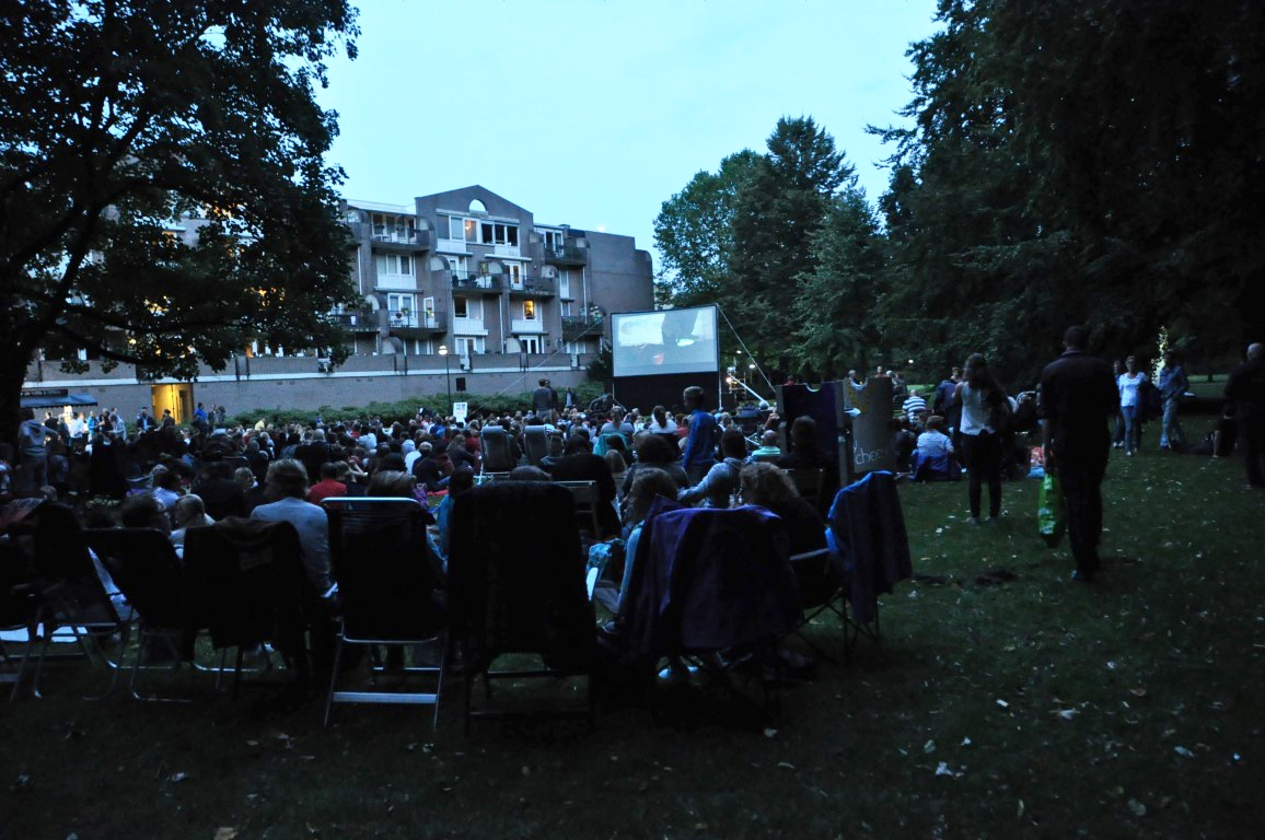 Film in park groot succes!