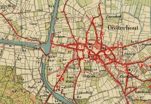 Kaart Oosterhout 1935