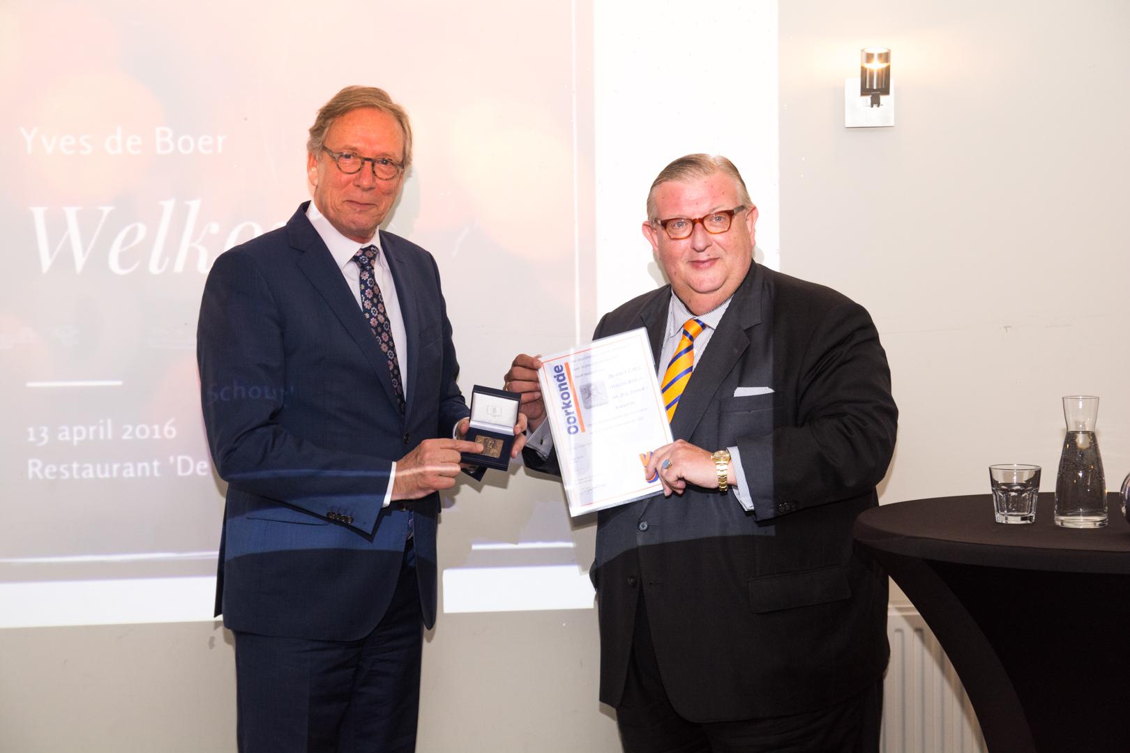 [NIEUWS] Voormalig wethouder Yves de Boer ontvangt hoge VVD-onderscheiding