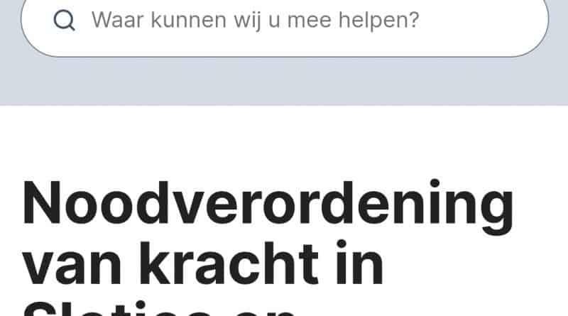 Noodverordening in Oosterhout